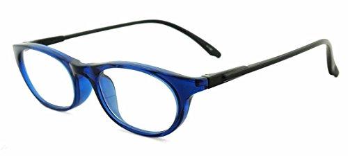 순수 일본 제 부드러운 수석 글라스 (돋보기) SABAE 시리즈 [블루 & 블랙】 사바 제 안경 JAPAN 케이스 첨부