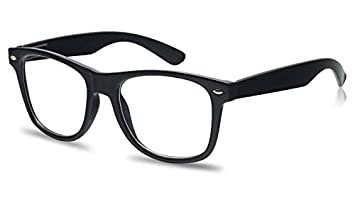 8fa91259419 Classic Retro Reading Glasses - 80 s Simple Stylish Rx Magnification  Readers Comfortable Eyewear (Black Frame