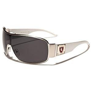 Premium Polarized Men's Shield Retro Aviator Sunglasses