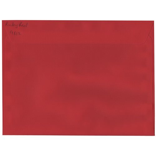 JAM Paper® A9 (5 3/4 x 8 3/4) Paper Invitation Envelopes - Ruby Red - 25 envelopes per pack