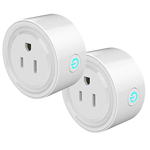 2 Packs Smart Plug, BIFANS Mini Wi-Fi Wireless Outlet Smart Switch Works with Google Home, Alex, No Hub Required, Remote Control Outlet with Timing Function (White-2 Pack)