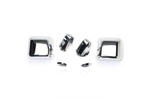 - Putco 400121 Chrome Mirror Overlay for Select Jeep Models