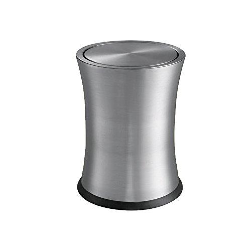 クリエイティブなステンレススチール製の家庭用トイレ手袋の厚手ごみ箱 ( 色 : Sand steel ) B0791XRJ41 Sand steel Sand steel