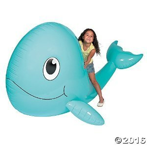 Jumbo Inflatable Whale - Large Pool Inflatable Whale - by Bunco Game Shop