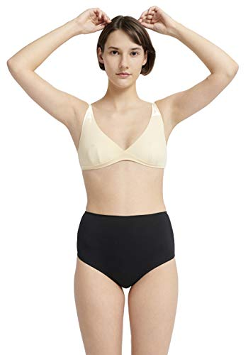 ABOUT 48% Protein Fiber (Soy) Women's Base Layer Culotte Underpants Made in EU (Black, M) ()