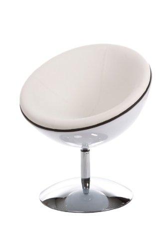 Drehsessel weiß  Casa Padrino Designer Drehsessel, Weiß/Hochglanz Weiß Lounge ...