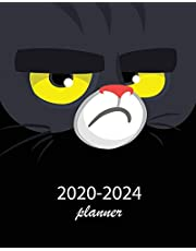 2020-2024 Planner: 5 Year Monthly Weekly Planner Calendar Schedule Organizer 60 Months With Holidays and Inspirational Quotes ( Black Cat Face )
