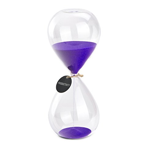 Large Hourglass (Hourglass Sand Timers - SWISSELITE Biloba Hourglass Sand Timer, 8.5 Inch Purple Sand Timer In 60 Mins)