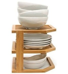 K&A Company 3 Tier Bamboo Shelf, 9.5'' x 10'' x 5 lbs