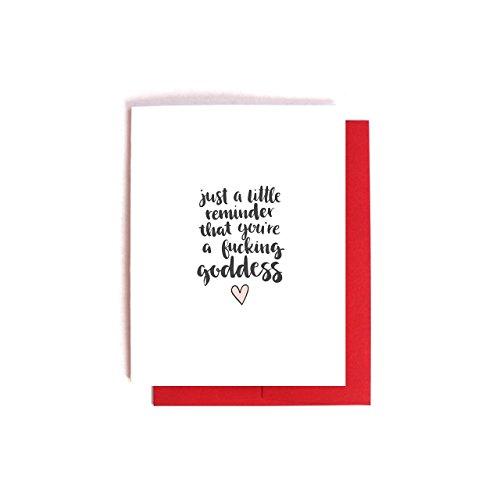 Fucking Goddess -- Valentine's Day Friendship Motivation Card