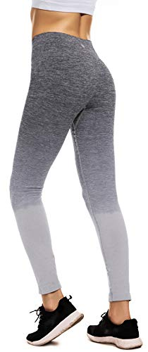 494bb636d7964 RUNNING GIRL Ombre Yoga Pants Ultrasoft Performance Active Stretch High  Waisted Running Leggings (S/
