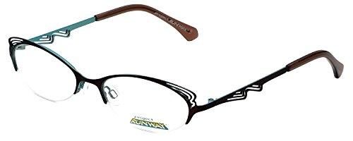 Project Designer (Project Runway Designer Eyeglass Frames in Brown Aqua)