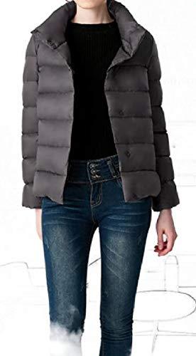 Scuro Giù Coreana Addensare Ol Womens Caldo Magro Breve Colletto Stile Mogogo Grigio Alla Piumino 5vxOZnX