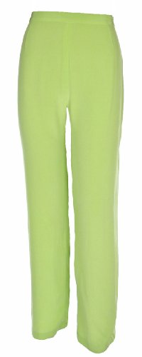Women's Silk Crepe Side Zipper Pant 16W Honeydew [Apparel] [Apparel] [Apparel]