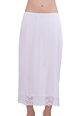 """Under Moments Maxi, Half Slip Vintage Style 32"""" with All Around Lace"""