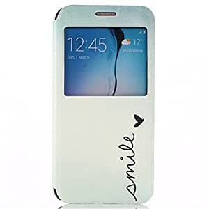 QHY Smile Pattern PU Leather Full Body Case with Stand for Samsung Galaxy S6