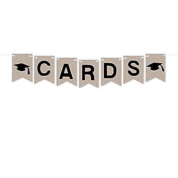 Amazon.com: papergala tarjeta de graduación caja Banner ...