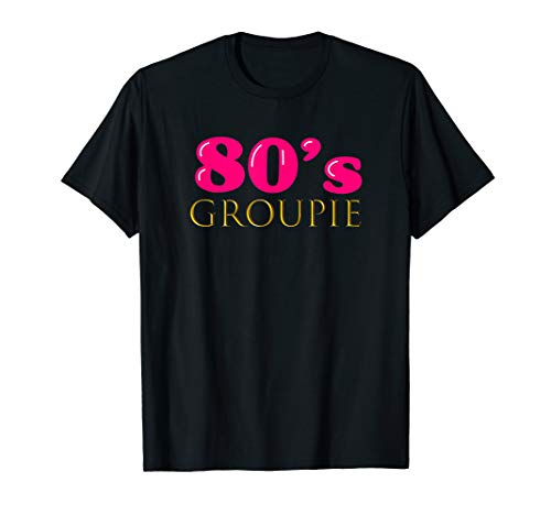 Cute 80s Groupie Tshirt Costume Party Outfit Women ()