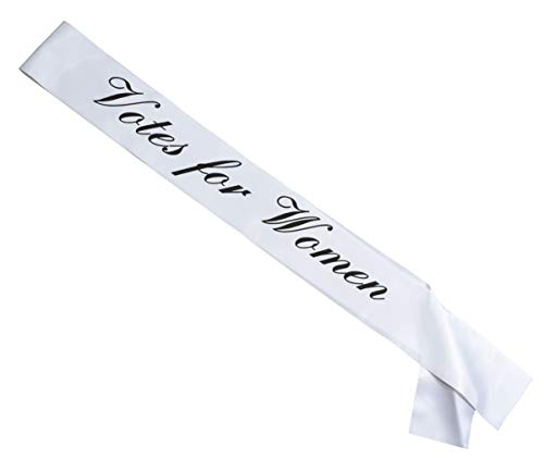 Votes for Women Sash with White Sash and Black Lettering