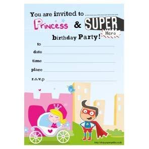 40 cumpleaños de los niños invitaciones de fiesta princesa y ...