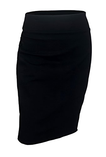 EVogues Plus Size Pencil Skirt Black - 1X