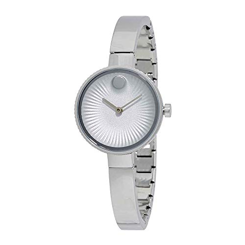 - Movado Women's Swiss Edge Stainless Steel Bangle Bracelet Watch 28mm 3680020