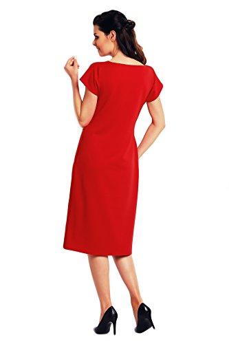 Stoffstreifen Rot Ein Kleid einfaches Midi mit Awama einem 7gSxY0Zqqw