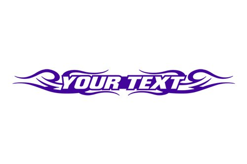 Sticky Creations - Design #122 Your Custom Text Personalized Customized Lettering Tribal Swirl Windshield Decal Sticker Vinyl Graphic Rear Window Banner Car Truck SUV | 36