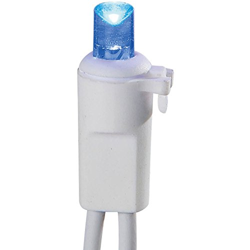 Wire Lights Blue White Icicle (Holiday Time Blue LED 70 Count Icicle Lights)