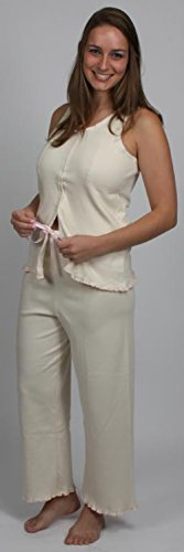 Price comparison product image Gentle Touch Pajama Sets (Mastectomy Camisole & PJ Pants) *direct from manufacturer* *6 sizes,  2 colors available* (S,  Beige / Pink)