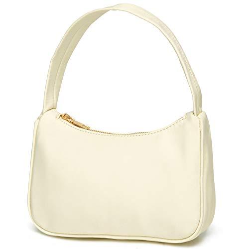 Small Nylon Shoulder Bags for Women Elegant Feminine Mini Handbags with Zipper Closure