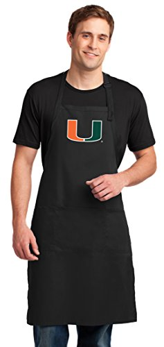University of Miami Apron LARGE Miami Canes Aprons For Men or Women