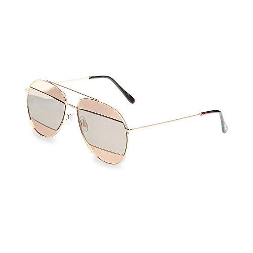 Steve Madden Women's Sm482110 Gold 320 - Aviator Madden Sunglasses Steve