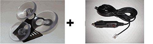 Set Beltronic & Escort Radar Detectors Bracket 3 cups & 6 FT Straight Power Cord
