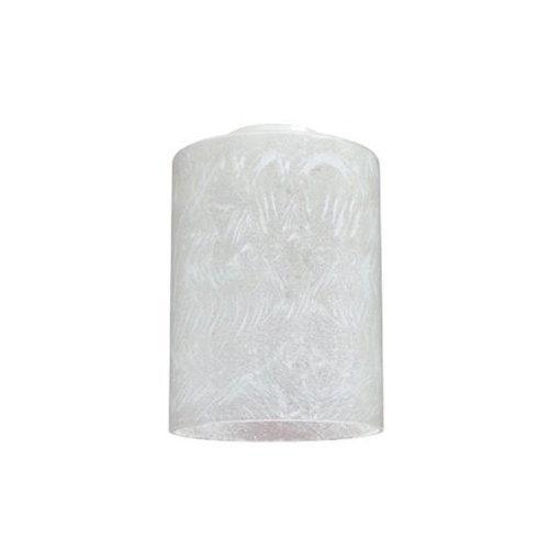 Westinghouse Lighting Corp 8570100 4-3/4 Inch Ice Cylinder Shaped Glass - Replacement Shaped Glass Cylinder