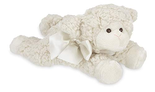 (Bearington Baby Baa Plush Stuffed Animal Lamb with Rattle, 8 inches)