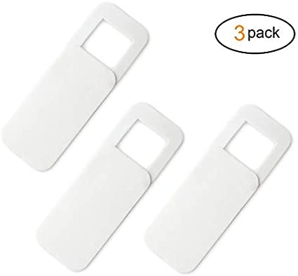 KELIFANG Webcam Cover iPad Smartphone and More Effective Protection for Security and Privacy Fits Mac Laptop PC Ultra Slim Slider Web Camera Cover with Adhesive Sticker Desktop 3Pack, White