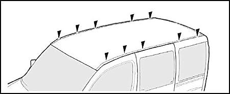 VDP kompatibel mit VW Crafter ab 2007 Dachtr/äger XL Pro 200 3 Stangen Lastentr/äger