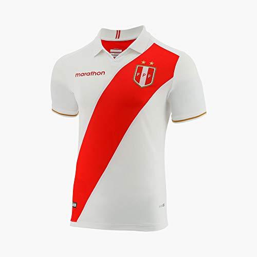 Jersey Peru COPA America 2019 Home ESTADIO Marathon Original PRODUCTO Oficial (X-Large) White (Best Football Jersey 2019)