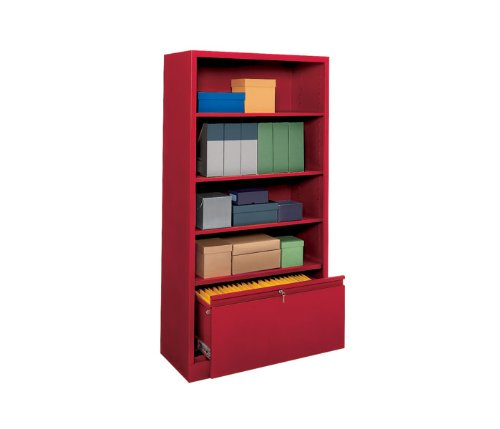 (Sandusky Lee BD30361872-02 System Series Bookcase with File Drawer, Charcoal)
