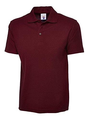 Uneek UC124 Polyester/Cotton Unisex Olympic Polo Shirt, Maroon, XXXX-Large