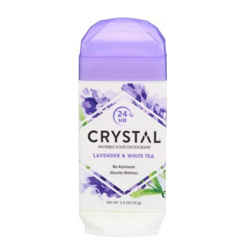 (Crystal Body Deodorant, Natural Deodorant, Lavender & White Tea , 2.5 oz (70 g), Pack of 2)