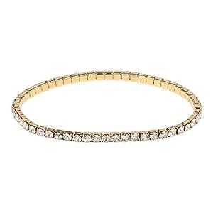 Oliver Weber Women's Rhodium Armband Dance Gold Crystal Bracelet