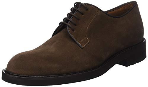 Buckster de Marrón Cordones Hombre Derby L6692 Lottusse Castor Zapatos para 8gqxwBn16