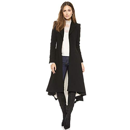 Digital baby Simple Metal Lapel Suit Cufflinks Fold Wool Coat Tails(Black,XXL(Thick Wool Coat)) by Digital baby (Image #2)