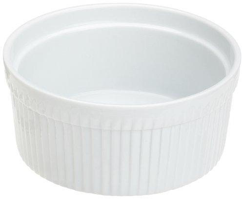 Kitchen Supply 8011 White Porcelain Souffle - Dish Porcelain Souffle