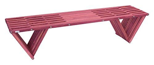 GloDea XQBC70YPGB Outdoor Bench, Gooseberry