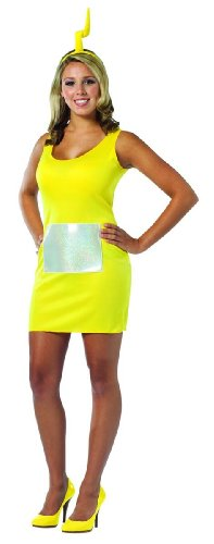 Rasta Imposta Teletubbies Laa-laa Tank Dress, Yellow, Adult 4-10 - Teletubby Fancy Dress