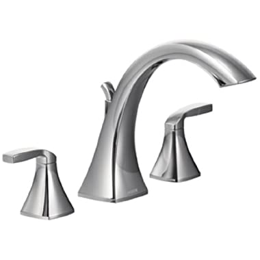 Moen T693 Voss Two-Handle High Arc Roman Tub Faucet, Chrome