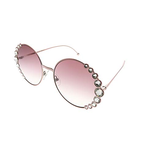 Fendi FF0324/S 35J Pink FF0324/S Round Sunglasses Lens Category 2 Size 58mm